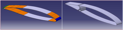 Sketch of models used for the aeroelastic comparison of reference wing sections